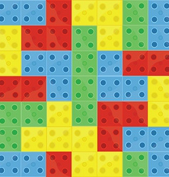 pattern colorful building blocks vector image