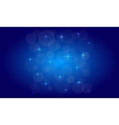 Picture of the bokeh effect with stars on a vector