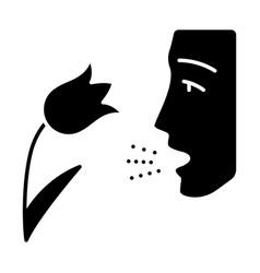 Pollen allergy glyph icon vector