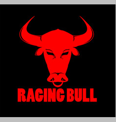 raging bull and buffalo logo vector image