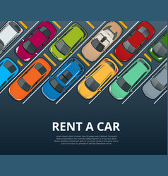 Renting a new or used car car rental booking vector