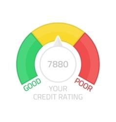 Round credit score gauge vector