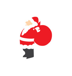 santa claus give award vector image