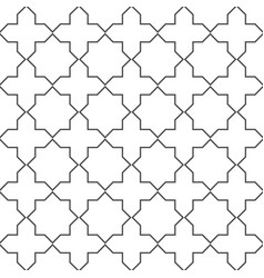 seamless geometric pattern monochrome graphic vector image