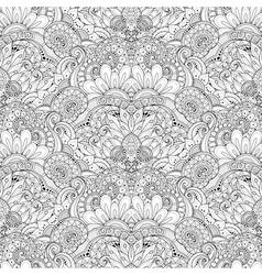Seamless Monochrome Ornate Pattern vector