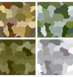 Set of original camouflage patterns vector image
