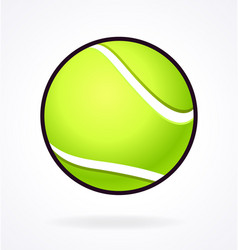 Simple tennis ball vector