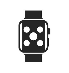 smartwatch bold black silhouette icon isolated vector image