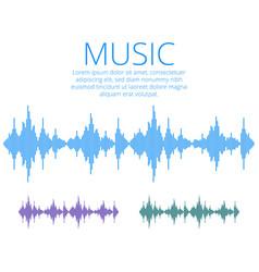 Sound waves music digital equalizer audio vector