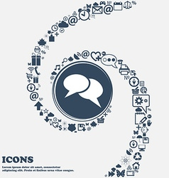 Speech bubble icons Think cloud symbols in the vector image