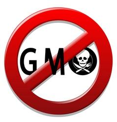 Stop GMO vector image vector image