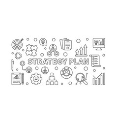 strategy plan concept line or vector image