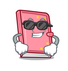 super cool diary character cartoon style vector image