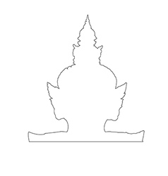Thai Giant Path on the white background vector image