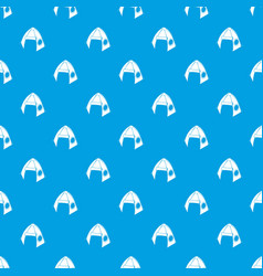 tribal tent pattern seamless blue vector image