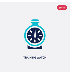 Two color training watch icon from gym and vector
