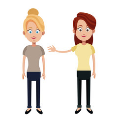two mother female family vector image