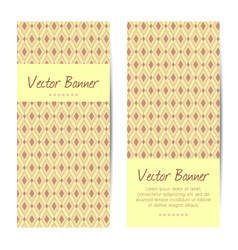 vertical banners abstract diamond pattern vector image