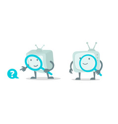 Video search cinema tv robot character with vector