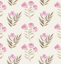 Watercolor seamless flowers pattern vector