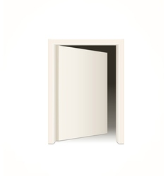 white door vector image