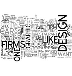 Why most design firms won t do spec work text vector