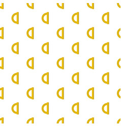 Yellow protractor pattern seamless vector