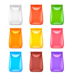 big food packaging colorful template 3d set vector image vector image