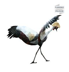 Flamingo polygon vector image vector image