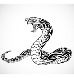 snake tribal tattoo vector image vector image
