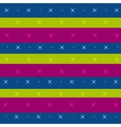 Striped background with a simple ornament vector image vector image
