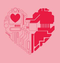 Circuit heart vector
