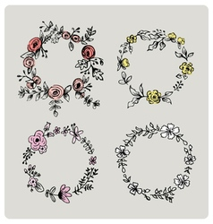 FLOWER DESIGN ELEMENTS vector image