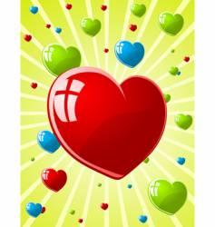 illustration of valentines wallpaper vector image