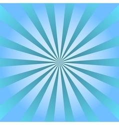 Blue rays poster star burst background vector image