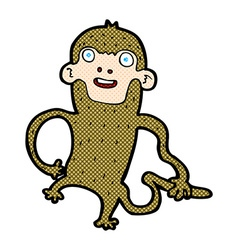 comic cartoon monkey vector image