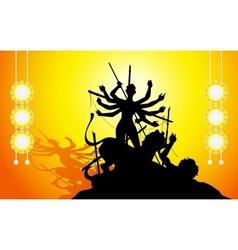 Goddess Durga vector image vector image