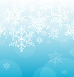 Light Blue Snowflake Background vector image vector image