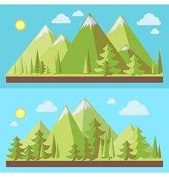 Mountains landscape flat vector image