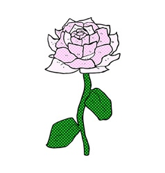 rose comic cartoon vector image vector image