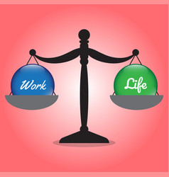 scale of work life balance work and life crystal vector image vector image