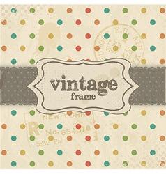 Vintage Template Background vector image