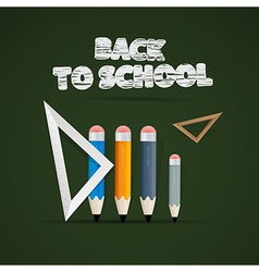 Back to school theme vector