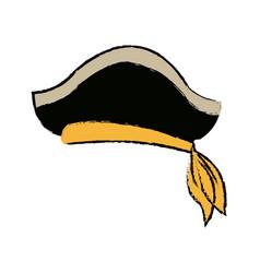 Pirate hat captain costume style symbol vector