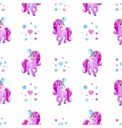 Seamless pattern for girls vector image