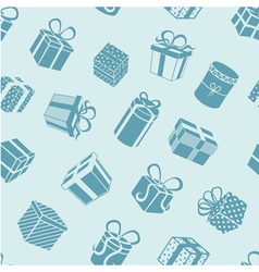 Silhouette gifts pattern vector image vector image