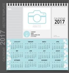 2017 calendar planner design template set of 12 vector
