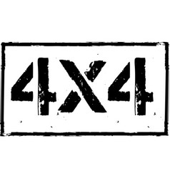 4x4 offroad emblem extreme suv logo vector
