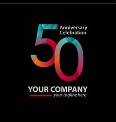 50 year anniversary celebration company template vector
