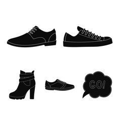A set of icons on a variety of shoesdifferent vector